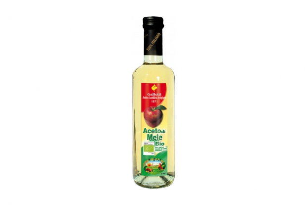 "Organic apple vinegar in ""Rossini"" bottle"