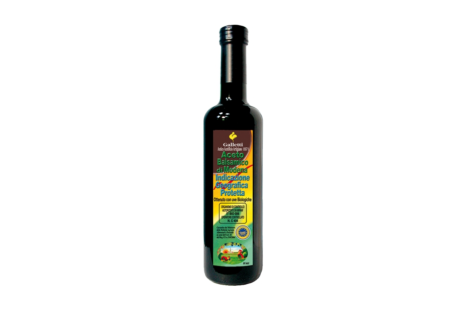 "Balsamic vinegar of Modena I.G.P. organic in ""Rossini"" bottle"