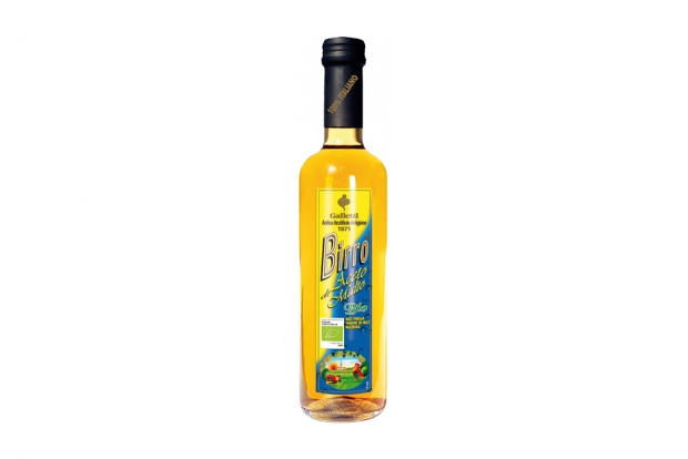 "Organic malt vinegar ""Birro"" in ""Rossini"" bottle"