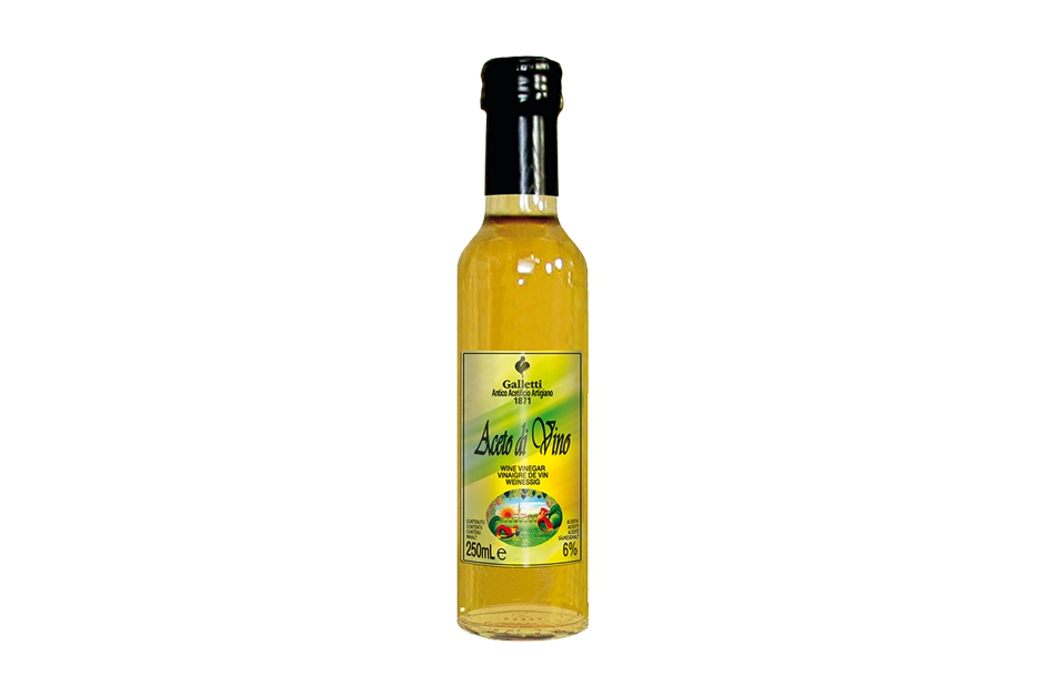 "White wine vinegar in ""Cesena"" bottle"
