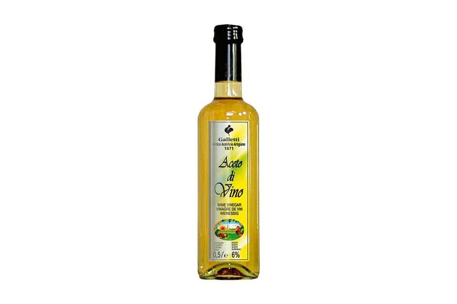 "White wine vinegar in ""Rossini"" bottle"
