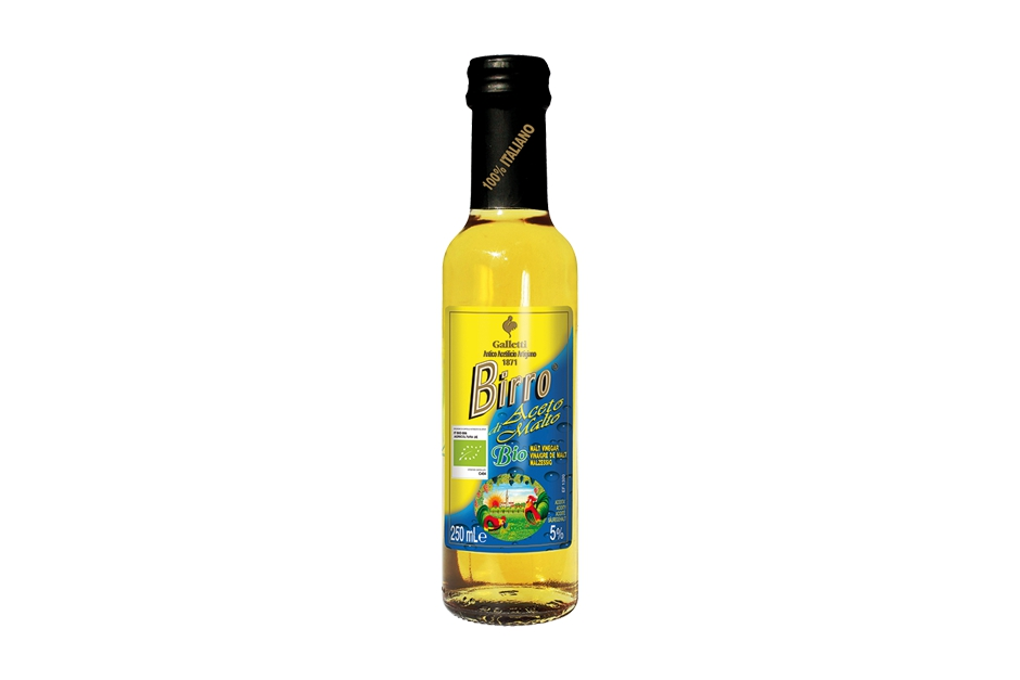 "Organic malt vinegar ""Birro"" in ""Cesena"" bottle"